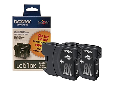 Brother LC 612PKS Black Ink Cartridges, 2/Pack (LC612PKS)