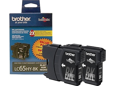 Brother LC 652PKS Black Ink Cartridges, High Yield, 2/Pack (LC652PKS)