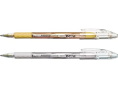 Pentel Sunburst Gel Pens, Medium Point, Assorted Ink, 2/Pack (K908MBP2XZ)