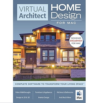 Virtual Architect Home Design Software for Mac, 1 User, Download (RU4A3QCFM7C8XJB)
