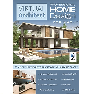 Virtual Architect Professional Home Design for Mac, 1 User, Download (VKUPNQ39TYN2NHC)