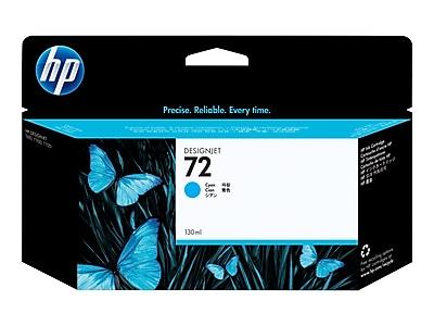 HP 72 Cyan Ink Cartridge, Standard (C9371A)