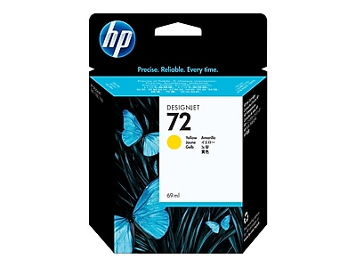 HP 72 Yellow Ink Cartridge, Standard (C9400A)