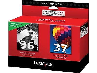 Lexmark 36/37 Black/Color Ink Cartridges, 2/Pack (18C2229)