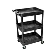 Luxor 3-Shelf Utility Cart, Black (STC111-B)