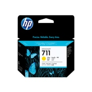 HP 711 Yellow Ink Cartridges, 3/Pack (CZ136A)