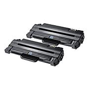 Samsung MLT-D105S Black High Yield Toner Cartridge, 2/Pack (SV117A)