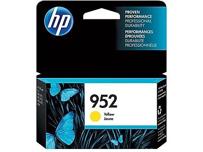 HP 952 Yellow Ink Cartridge, Standard (L0S55AN#140)