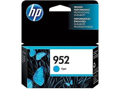 HP 952 Cyan Ink Cartridge, Standard (L0S49AN#140)