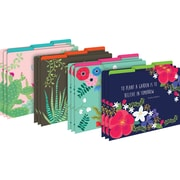 Barker Creek File Folders, Petals & Prickles, 1/3 Cut Letter-Size Multi-Design, Fashion, 12/Pack (BC1306)