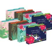 Barker Creek File Folders, Petals & Prickles, Letter-Size, Multi-Design Set, 24/Set (BC3875)