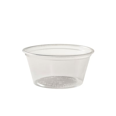 BioGreenChoice 3-4 oz. Clear Compostable PLA Souffle Cup, 1000/Case