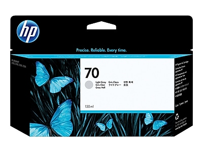 HP 70 Light Gray Ink Cartridge, Standard (C9451A)