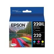 Epson 220XL Black/Color Ink Cartridges, Standard, 4/Pack (T220XL-BCS)