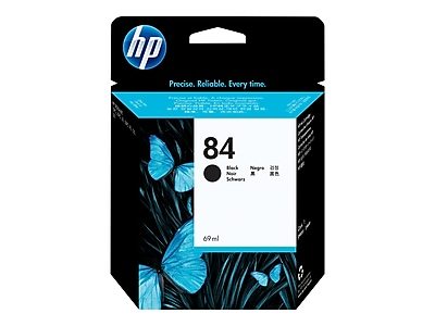 HP 84 Black Ink Cartridge, Standard (C5016A)
