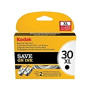 Kodak 30XL Black Ink Cartridge, High Yield, 2 Pack (1681485)