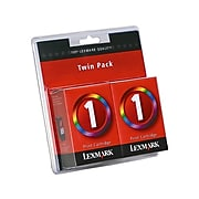 Lexmark 1 Tri-Color Standard Yield Ink Cartridge, 2/Pack