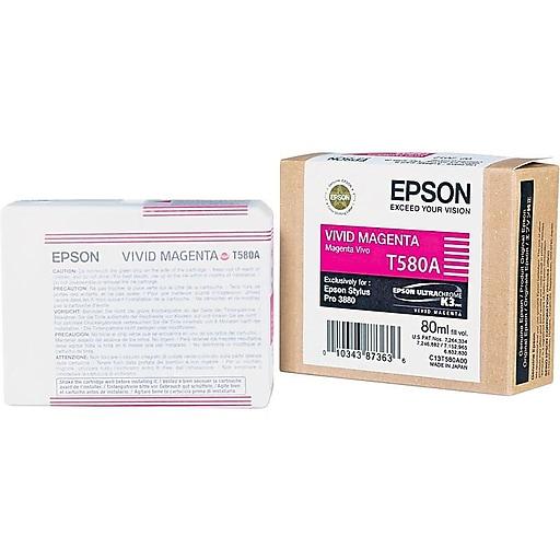 epson 580 80ml vivid magenta ink cartridge t580a00 staples. Black Bedroom Furniture Sets. Home Design Ideas