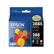Epson T288/T288XL Black/Color Ink Cartridges, Standard, 4/Pack (T288XL-BCS)