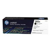 HP 305X Black Toner Cartridges, High Yield, 2/Pack (CE410XD)