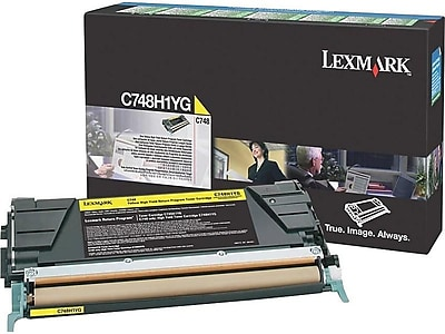 Lexmark C748H1YG Yellow Toner Cartridge, High Yield