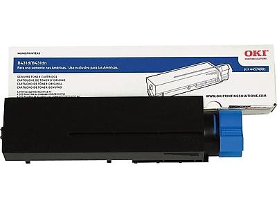 OKI 44574901 Black Toner Cartridge, High Yield