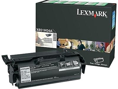 Lexmark X651H04A Black Toner Cartridge, High Yield