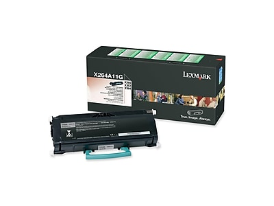 Lexmark X264A11G Black Toner Cartridge, Standard