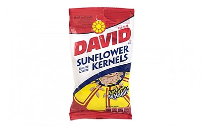 David Kernels Sunflower Kernels, 3.75 oz, 12 Count