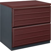 "Ameriwood Pursuit 2 File Drawer Lateral File Cabinet, Not Assembled, Cherry, Letter/Legal, 29.4""W (9522196)"