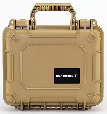 Condition 1 Airtight/Watertight Tan Hard Plastic Protective Case (101075)