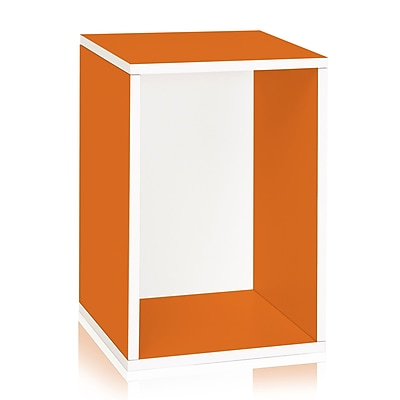 Way Basics Vertical Blox 22.4 inch Eco Friendly Storage and Stackable Shelving Orange (WB-VRECT-OE)