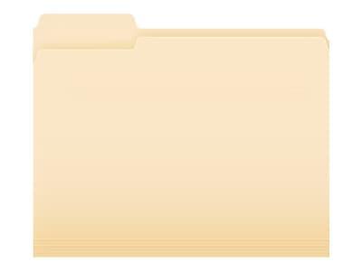 Pendaflex Essentials File Folders, 1/3-Cut Tab, Letter Size, Manila, 100/Box (752 1/3)