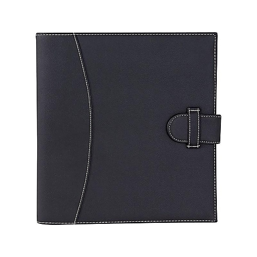 """It's Academic Faux Leather 1"""" 3-Ring Legal Binder, Black (92875)"""