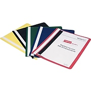 Staples 2-Prong Report Covers, Letter, Assorted, 5/Pack (20638-CC/10731)