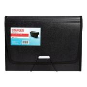 Staples Expanding File with Mesh Pocket, Letter Size, 13-Pocket, Black (51819)