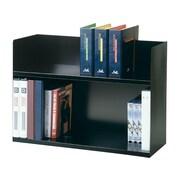 """Steelmaster 29.13"""" Steel Book Rack, Black, Each (26423BRBK)"""