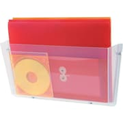Staples 1-Pocket Plastic Wall File, Clear (20482/64301)