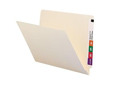 Smead End-Tab File Folders, Shelf-Master Reinforced Straight-Cut Tab, Letter Size, Manila, 100/Box (24111)