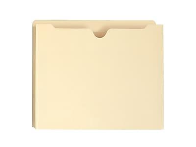 Smead File Jacket, Reinforced Straight-Cut Tab, 1-1/2