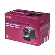 Staples® Electric Pencil Sharpener, Gray/Silver (34462)