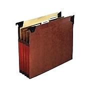 """Pendaflex Hanging File Folders with Swing Hooks, 3-1/2"""" Expansion, Letter Size, Redrope, 5/Box (45422)"""