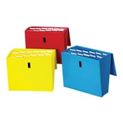 Staples Reinforced Expanding File with Flap, Letter Size, 13-Pocket, Assorted Colors (38299)