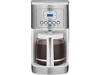 Cuisinart PerfecTemp 14-Cup Automatic Coffee Maker, White/Stainless Steel (DCC-3200W)