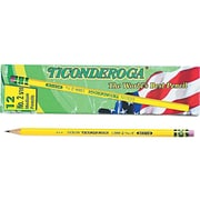 Ticonderoga The World's Best Pencil Wooden Pencils, No. 2.5 Medium Lead, Dozen (13885)
