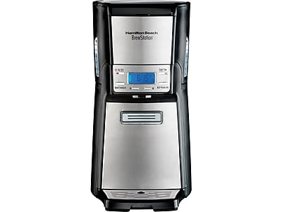 Hamilton Beach BrewStation 12-Cup Automatic Coffee Maker, Black/Stainless Steel (48465)