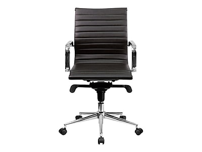 Flash Furniture Molded Foam/Faux Leather Conference Chair, Brown (BT-9826M-BRN-GG)