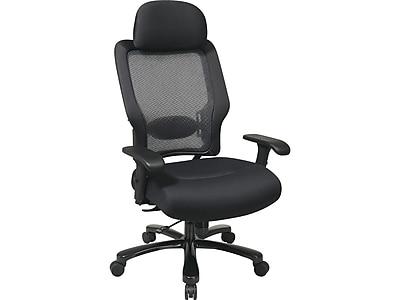 Space Seating 63 Series Mesh Computer & Desk Big & Tall Chair, Black (63-37A773HM)