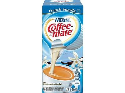 Coffee-mate French Vanilla Liquid Creamer, 0.38 Oz., 50/Box (35170)