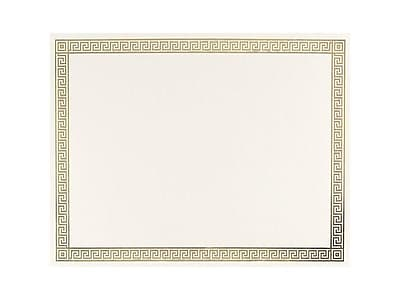 Great Papers Channel Border Foil 8.5 x 11 Certificates, Beige/Gold, 15/Pack (963007)